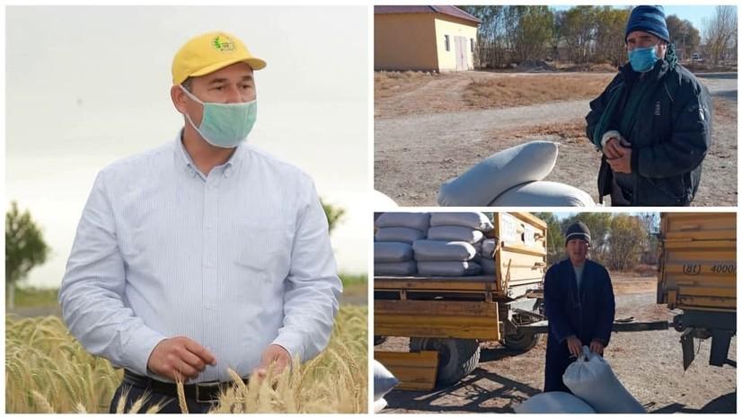 Янгибозорлик фермер 40 тонна шолини хайрия қилди