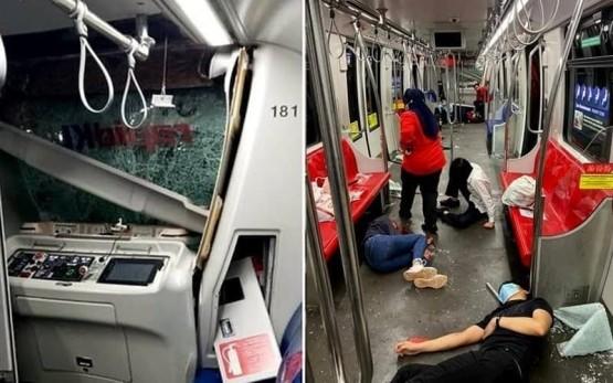 Малайзияда 2 та метро поезди тўқнашди, 200 дан ортиқ қиши жароҳатланди