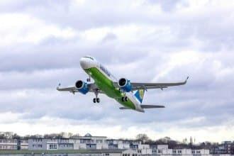Ўзбекистонга янги Airbus A320 Neo   самолёти келтирилди