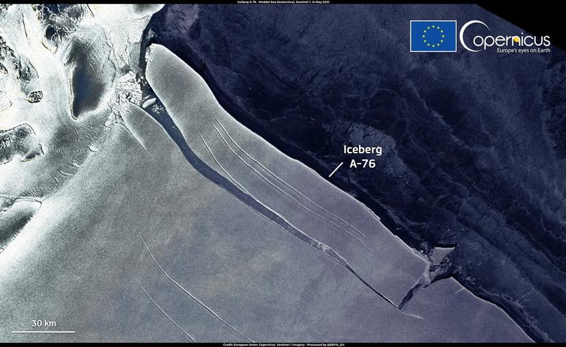 Антарктидадан дунёдаги энг катта айсберг ажралиб чиқди