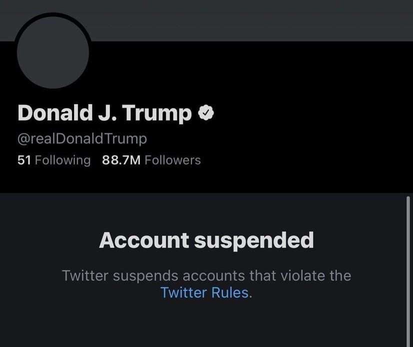 Ана холос! Twitter Трампнинг аккаунтини буткул ўчириб ташлади