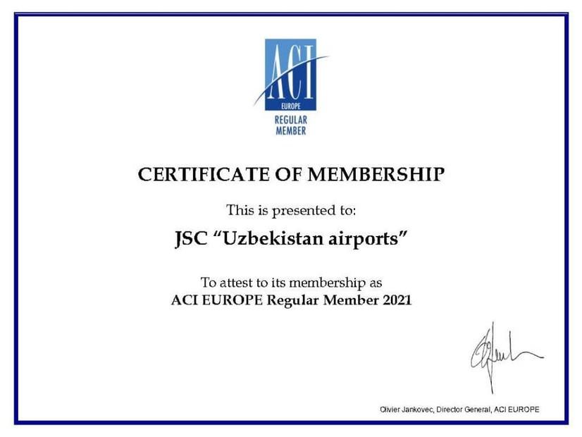 """Uzbekistan Airports"" Халқаро аеропортлар кенгашига аъзо бўлди"