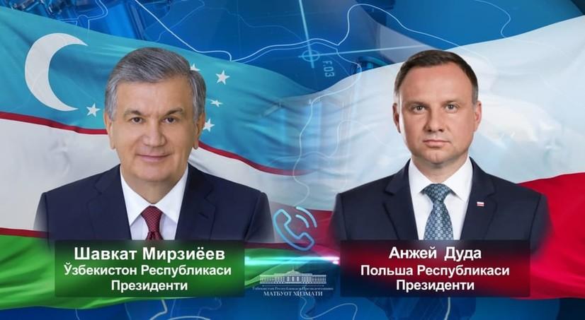Шавкат Мирзиёев Анжей Дуда билан мулоқот қилди