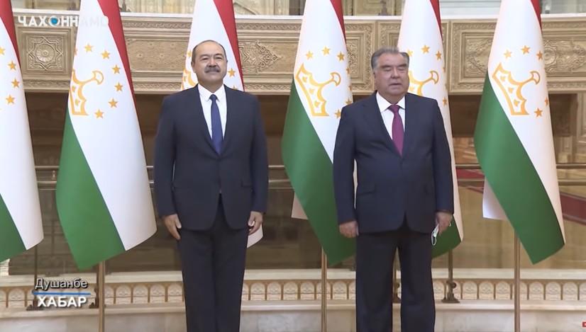 Abdulla Aripov Tojikiston prezidenti Emomali Rahmon bilan uchrashdi (video+foto)