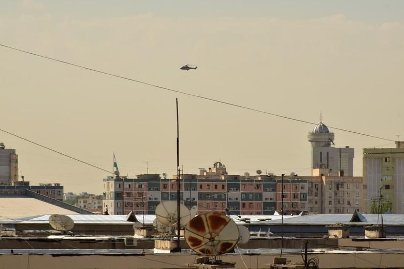 Халқаро конференция сабаб Тошкент маркази вертолётдан назорат қилинмоқда (видео)