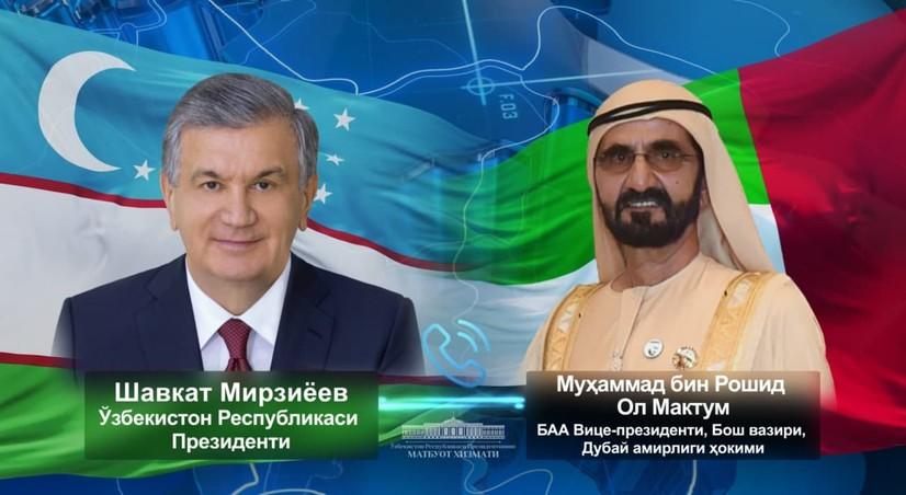 Шавкат Мирзиёев БАА вице-президенти билан телефон мулоқоти ўтказди