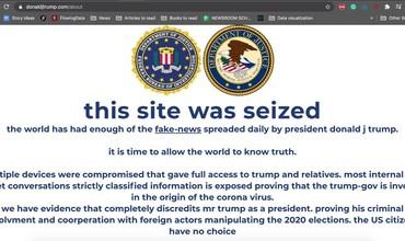 Трамп штабининг веб-сайти президентлик сайловларидан бир ҳафта олдин хакерлик ҳужумига учради