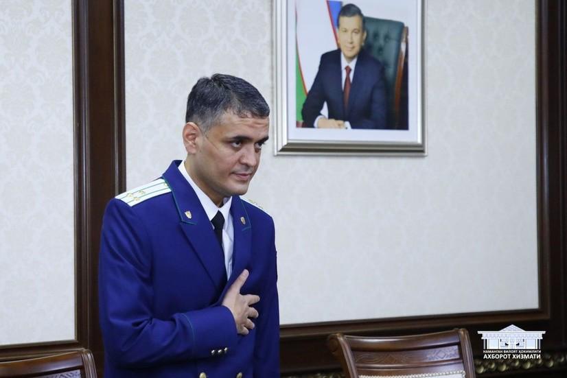 Хоразм вилояти прокурори Наманганга прокурор этиб тайинланди