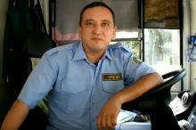 Тошкентдаги автобусда ноодатий ҳолат юз берди (видео)
