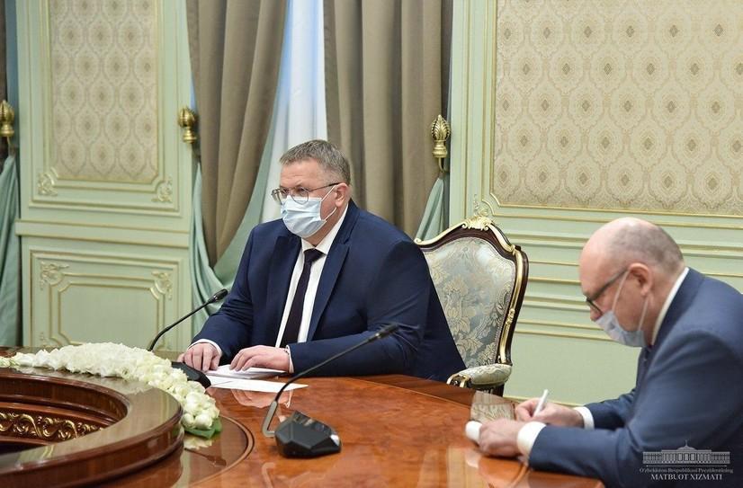 Шавкат Мирзиёев Россия ҳукумати раисининг ўринбосарини қабул қилди