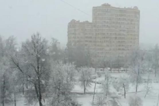 Москва вилоятида қор ёғди