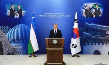 Prezident Mirziyoyev Shimoliy iqtisodiy hamkorlik forumida ishtirok etdi