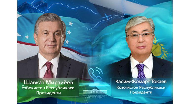 Шавкат Мирзиёев Қосим-Жомарт Тоқаевни сайловдаги ғалаба билан табриклади