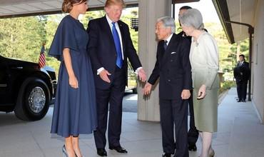 Трамп тўрт кунлик ташриф билан Японияга келди