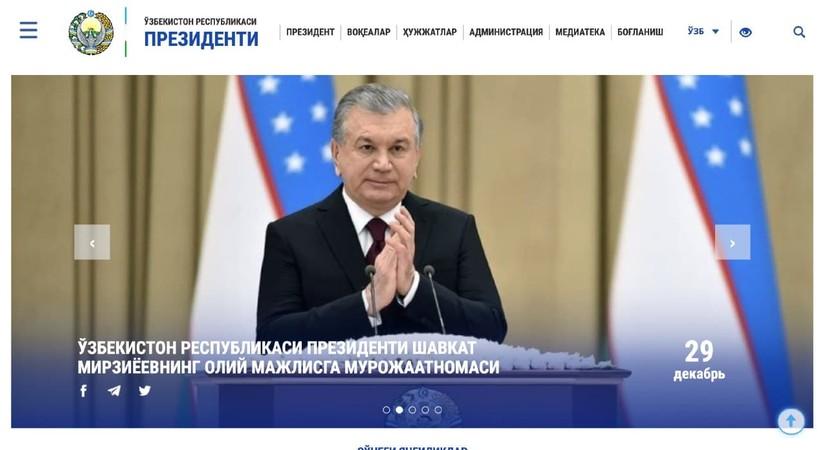 Президентнинг расмий веб-сайти янги форматда ишга туширилди