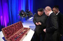 Ким Чен Ин ва Путин бир-бирига нима совға қилди (видео)