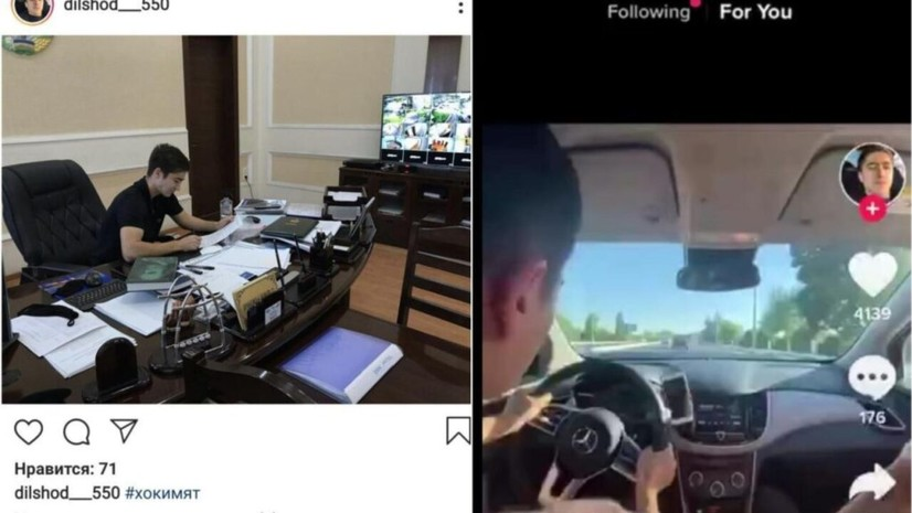 Олмалиқ ҳокимининг ўғли 150 км/соат тезликда автомобиль ҳайдаб, TikTok'да жарималари билан мақтаняпти (видео)