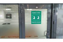 Тошкент халқаро аэропортининг учиб келиш (қўниш) залида намозхона очилди (фото)