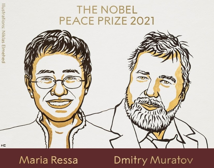 Тинчлик бўйича Нобель мукофоти журналистларга берилди