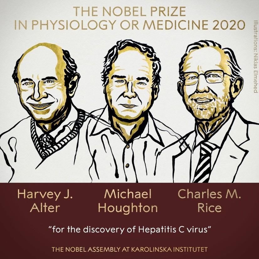 Тиббиёт бўйича Нобел мукофотини гепатит C вируси кашфиётчилари олди