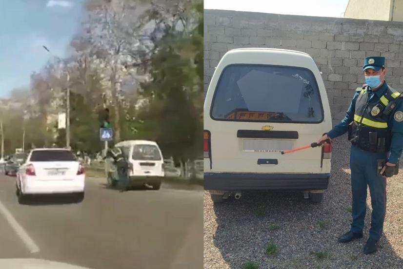 Ижтимоий тармоқда «ГАИ ходими шахсий автомобилида «Дамас»ни қувиб юрибди» видео лавҳаси тарқалди