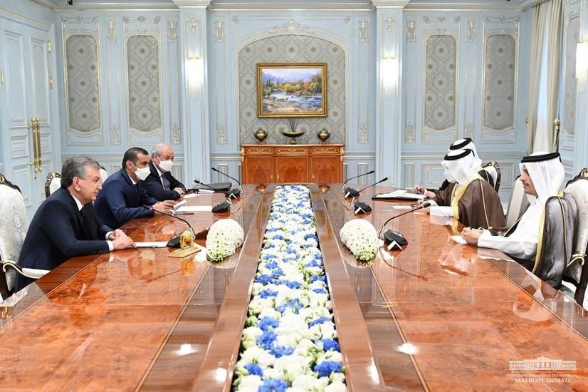 Ўзбекистон Президенти Қатар Давлати делегациясини қабул қилди