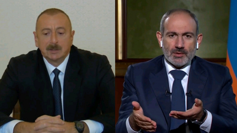Алиев ва Пашинян телеканал эфирида Қорабоғ бўйича баёнотлар алмашишди