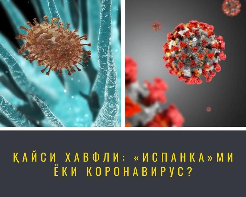 Қайси хавфли: «Испанка»ми ёки коронавирус?