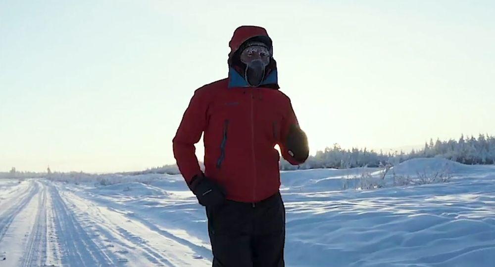 Молдовалик спортчи -60 даража совуқда 50 км масофани югуриб ўтди (видео)